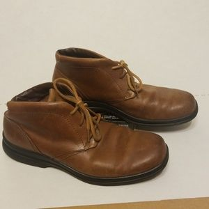 Rockport leather hightop loafers men's size 10